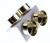 Svícen kovový na čajovou svíčku zlatý 4 cm 4 kusy