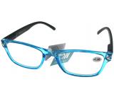 Berkeley Čtecí dioptrické brýle +2,0 plast průhledné modré, černé stranice 1 kus MC2166