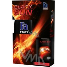 Fa Men Black Sun sprchový gel 250 ml + tělové mléko 150 ml, kosmetická sada