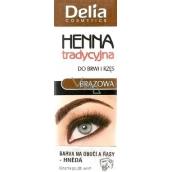 Delia Cosmetics Henna barva na obočí a řasy Hnědá 2 g