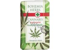 Bohemia Gifts & Cosmetics Cannabis Konopný olej regenerační toaletní mýdlo 100 g