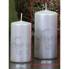 Lima Andělé trubači svíčka bílá válec 60 x 120 mm 1 kus