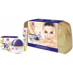 Dermacol Time Coat Day Cream intenzivně zdokonalující denní krém 50 ml + Time Coat Eye & Lip Cream intenzivně zdokonalující krém na oči a rty 15 ml + etue, kosmetická sada