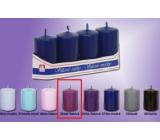 Lima Svíčka hladká středně fialová válec 40 x 70 mm 4 kusy