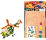 Dřevěné puzzle dopravní prostředky Vrtulník 20 x 15 cm
