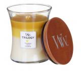 WoodWick Trilogy Fruits of Summer - Plody léta vonná svíčka s dřevěným knotem a víčkem sklo střední 275 g