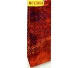 Nekupto Dárková papírová taška hologram na láhev 33 x 10 x 9 cm Červená 121 30 THLH