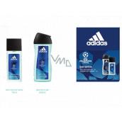 Adidas UEFA Champions League Dare Edition VI parfémovaný deodorant sklo pro muže 75 ml + sprchový gel 250 ml, kosmetická sada