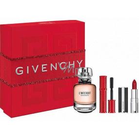 Givenchy L Interdit parfémovaná voda pro ženy 50 ml + řasenka 4 g + rtěnka 1,5 g, dárková sada