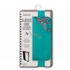 If Bookaroo Glasses Case pouzdro na brýle s gumou na knihu/zápisník tyrkysové 262 x 210 x 10 mm
