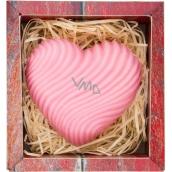 Bohemia Gifts & Cosmetics Srdce ručně vyráběné toaletní mýdlo v krabičce 120 g