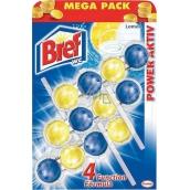 Bref Power Aktiv 4 Formula Lemon WC blok Mega pack 3x50 g