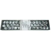 Rolničky stříbrné v krabičce 19 x 4 cm