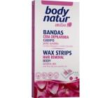 Body Natur Sensitive voskové pásky pro epilaci těla s šípkovým olejem a esenciálními oleji 16 kusů + poepilační ubrousky 2 kusy