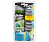 Gillette Mach 3 náhradní hlavice 8 kusů + Gillette Mach 3 Sensitive gel na holení 200 ml, kosmetická sada