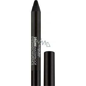 Deborah Milano 24Ore Waterproof Eyeshadow & Pencil oční stíny a tužka na oči 2v1 12 Mat Black 2 g