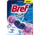 Bref Blue Aktiv Fresh Flowers WC blok pro hygienickou čistotu a svěžest Vaší toalety, obarvuje vodu do modrého odstínu 50 g