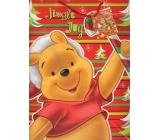 Ditipo Dárková papírová taška 26 x 13,5 x 32 cm Disney Medvídek Pú Jingle Joy