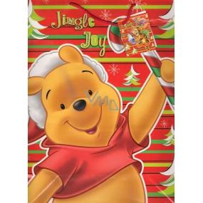 Ditipo Disney Dárková papírová taška pro děti L Medvídek Pú Jingle Joy 26 x 13,5 x 32 cm