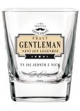 Nekupto Liga Pravých Gentlemanů Whisky sklenička Pravý Gentleman není jen legendou, ty jsi jedním z nich 7 x 7 x 9 cm