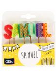 Albi Dortové svíčky jméno - Samuel, 2,5 cm