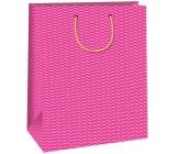 Ditipo Dárková papírová taška Trendy colours velká tmavě růžová 32,4 x 10,2 x 45,5 cm QXA