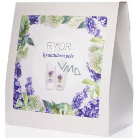 Ryor Levandulová péče sprchový gel 200 ml + tělové mléko 300 ml + ručník 30 x 50 cm, kosmetická sada