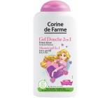 Corine de Farme Disney Princezna 2v1 šampon na vlasy a sprchový gel pro děti 250 ml