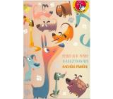 Albi Hrací přání s efektem k narozeninám Štěkající pejsci 14,8 x 21 cm