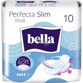 Bella Perfecta Slim Blue ultratenké hygienické vložky s křidélky 10 kusů