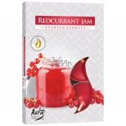 Bispol Aura Redcurrant Jam - Červený rybíz vonné čajové svíčky 6 kusů