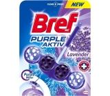 Bref Purple Aktiv Lavender WC blok pro hygienickou čistotu a svěžest Vaší toalety, obarvuje vodu do fialového odstínu 50 g