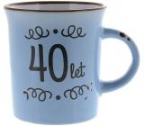 Albi Plecháček keramický hrnek s nápisem 40 let 320 ml