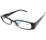 Berkeley Čtecí dioptrické brýle +1,0 černé stranice s kamínky 1 kus MC2154