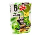 Tea Lights Green Tea s vůní zeleného čaje vonné čajové svíčky 6 kusů