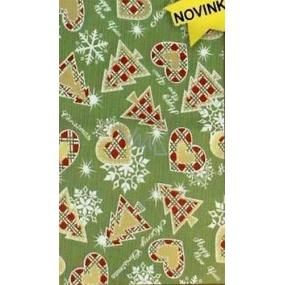 Nekupto Celofánový sáček 20 x 35 cm Vánoční zelený 172 50 ZN