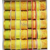 Ditipo Stuha látková s drátkem žluto zelená průsvitná 3 m x 25 mm