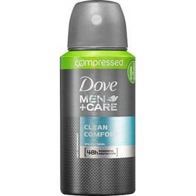 Dove Men + Care Clean Comfort 48h kompresovaný antiperspirant deodorant sprej 75 ml