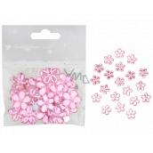 Kytičky samolepicí růžové 2 cm 20 kusů