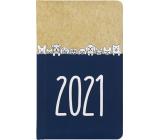 Albi Diář 2021 kapesní týdenní Kraft Pejsci 15,5 x 9,5 x 1,2 cm