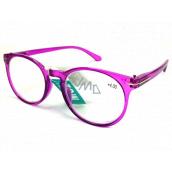 Berkeley Čtecí dioptrické brýle +4,0 plast středně fialové, kulaté skla 1 kus MC2171