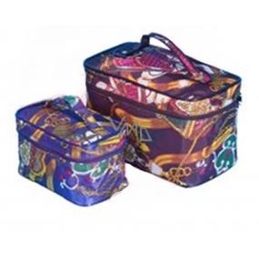 Kosmetický barevný kufřík nylonový malý 50144 11 x 17 x 10 cm 1 kus