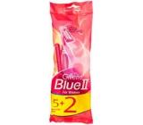 Gillette Lady Blue II Women 5+ 2 ks Jednorázová holítka se zvlhčujícím páskem