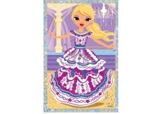 Vyškrabávací obrázek panenky tancující 21,5 x 11 cm