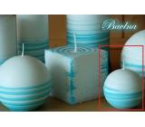 Lima Aromatická spirála Bavlna svíčka bílo - tyrkysová koule 60 mm 1 kus