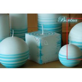 Lima Aromatická spirála Bavlna svíčka bílo - tyrkysová koule 100 mm 1 kus