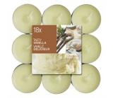 Bolsius Aromatic Tasty Vanilla - Vanilka vonné čajové svíčky 18 kusů, doba hoření 4 hodiny