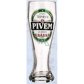 Nekupto Dárky s humorem Pivní sklenice humorné Teprve s pivem je žízeň krásná 0,6 l