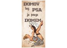 Bohemia Gifts Dekorační obraz na zavěšení Domov bez psa 20 x 40 cm