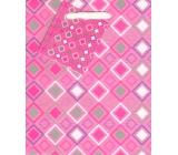 Nekupto Dárková papírová taška malá 14 x 11 x 6,5 cm růžová 1347 30 KFS